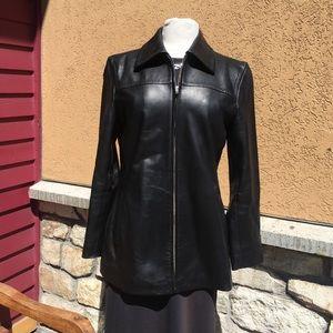 🌲COACH Leather Jacket EUC🌲